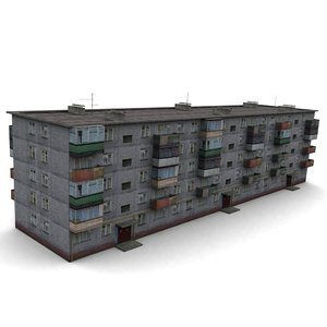 soviet house hrushevka 3d max