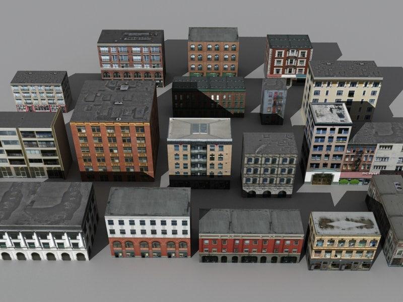 17 buildings 3ds
