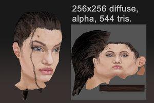 angelina jolie head 3d 3ds