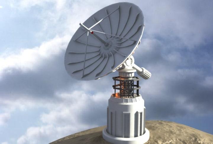 3d satellite dish telescope model