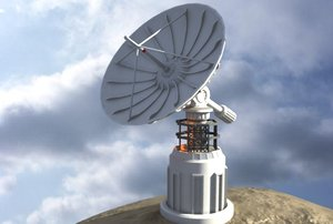 3d satellite dish telescope model