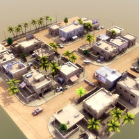 3d model arab streets construction buildings