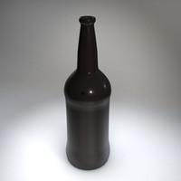 brown glass bottle 3d model