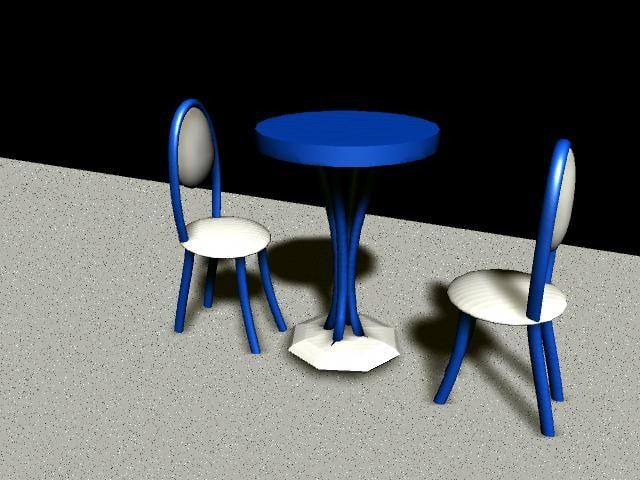 3d model bistro table set
