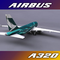 3dsmax airbus a320 chinese airline