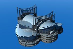 3d convention center model
