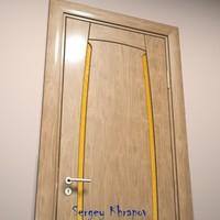 wood door 3d ma