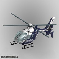 3d model of eurocopter ec-135 flight medical