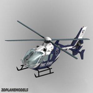 3d model of eurocopter ec-135 flight medical