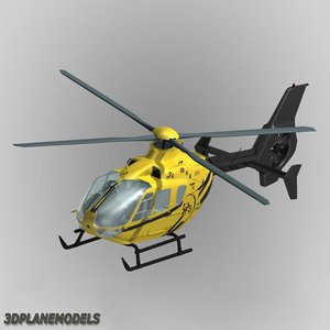 3d eurocopter ec-135 phi helicopters model