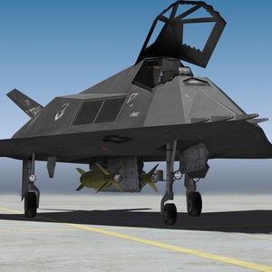 stealth military jet 3d model