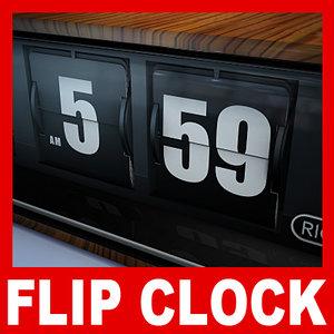 retro flip clock max