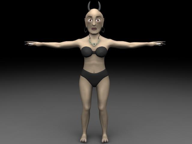 giant lady 3d model
