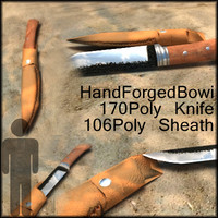 GameReady! Bowi Knife and Sheath Extra Lowpoly!