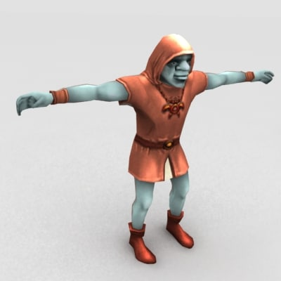 3d model of goblin shaman