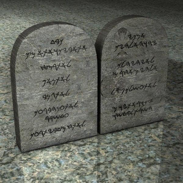 3d model stone commandments