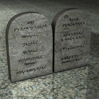 3d model stone commandments