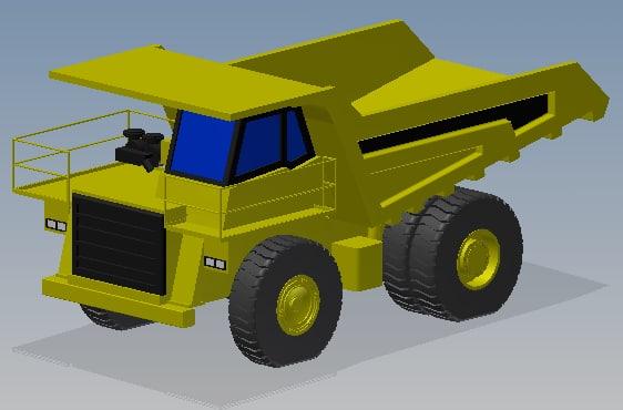 komatsu hd325 truck 3d model