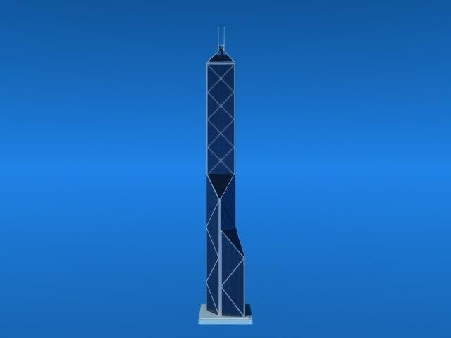 hong kong skyscraper obj