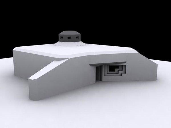 german bunker ostwall 3d 3ds
