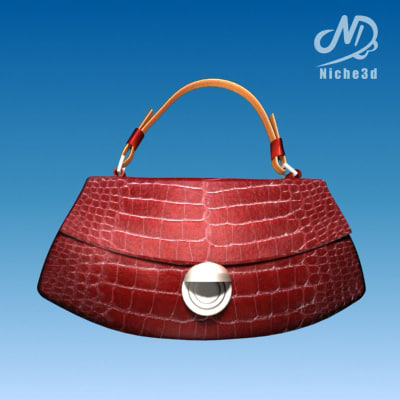 fashion designer bag - 3d 3ds