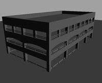3d model parking garage