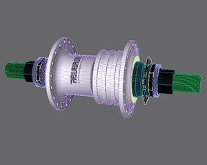 3d bmx hub freecoaster