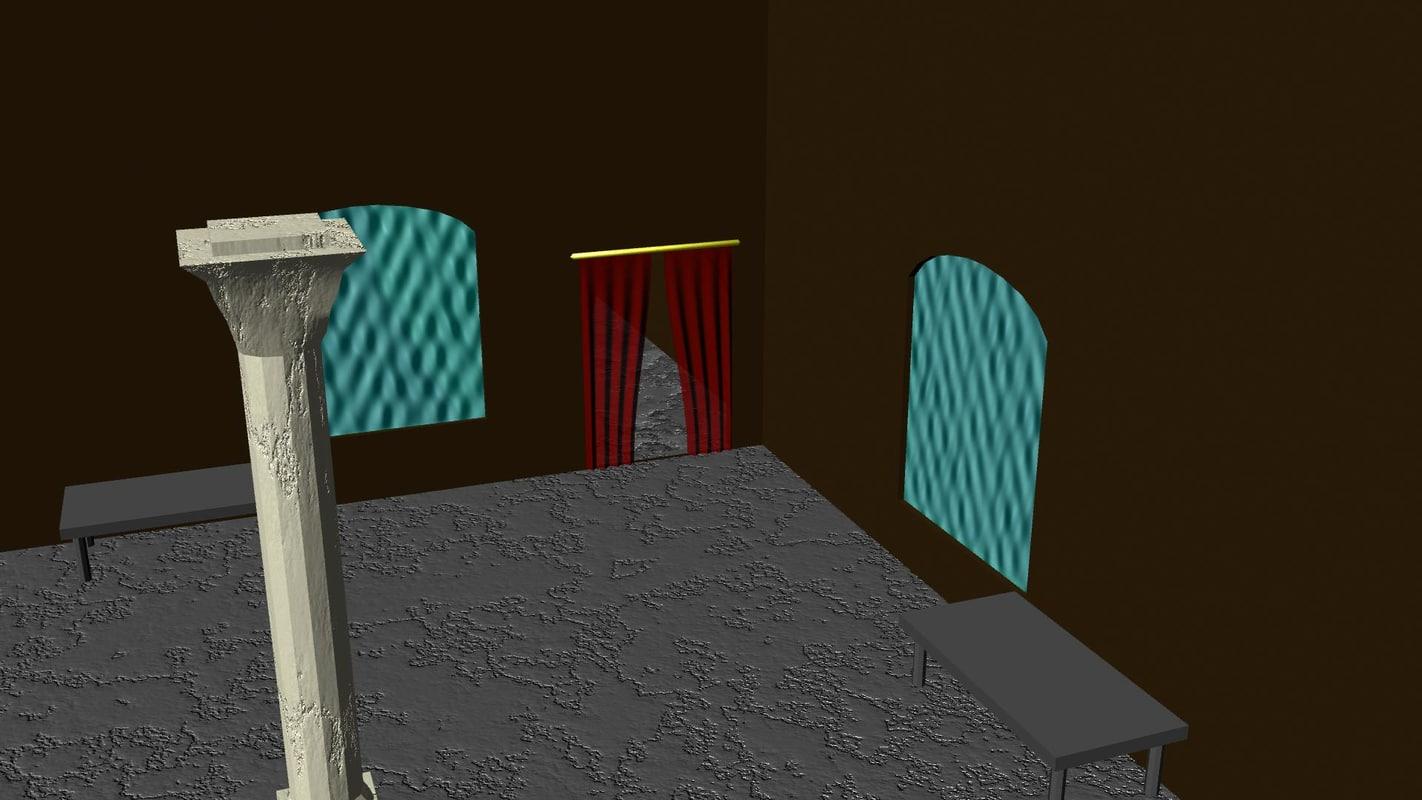 free roman room 3d model
