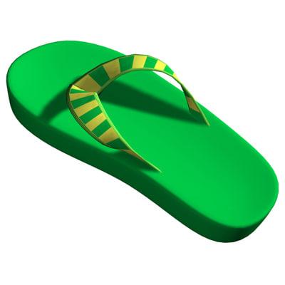 flip sandals 3d x