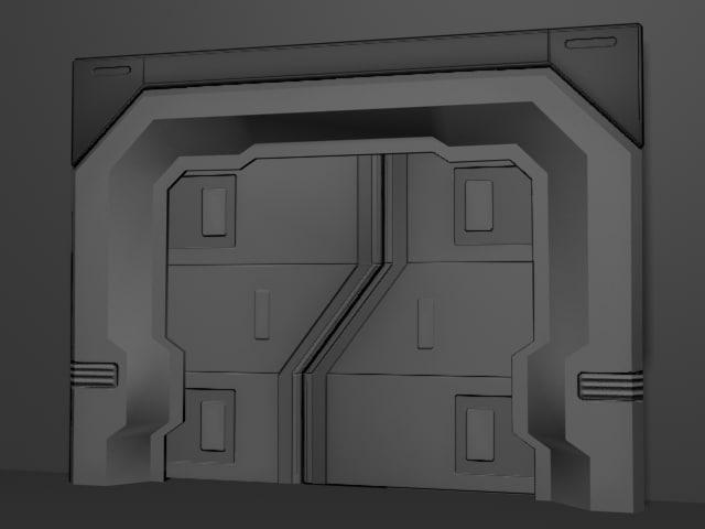 Airlock Door 3ds