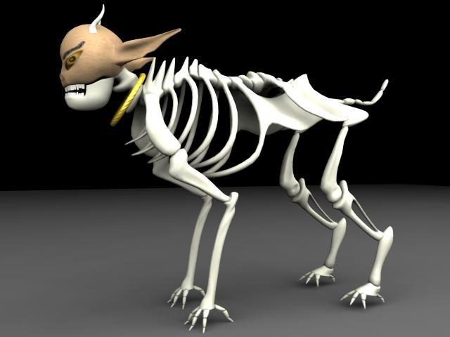 skeleton creature 3d model