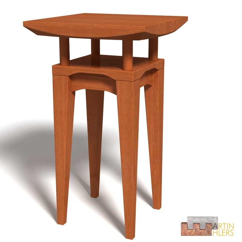 3d model high-desk standing-desk