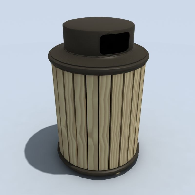 covered trash 3d max