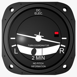 3ds max air craft turn coordinator