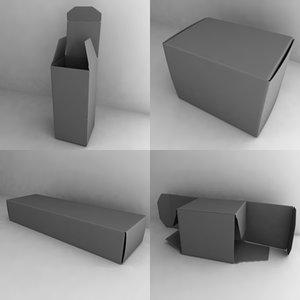 paper pillboxes 3d model