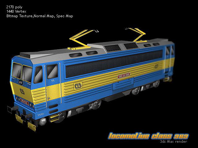 europan train locomotive 3d 3ds