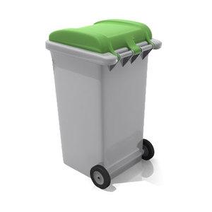 wheelie bin 3d model