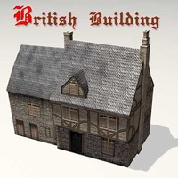 Old British Building 01
