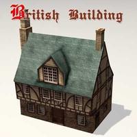 3d model old british building