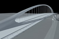 East London River Crossing, by Calatrava