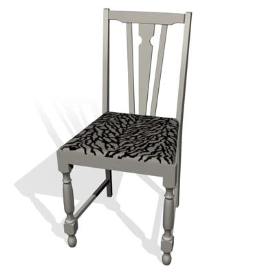 beige chair 3d model