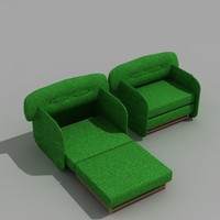 3d model chair bed