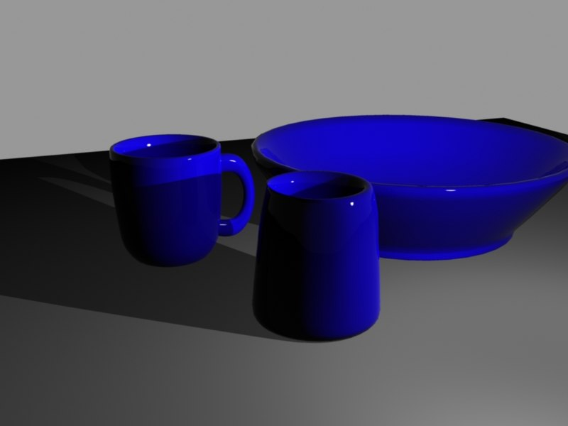 bowl cup glass 3d model
