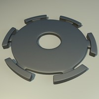 metal component 3d dxf
