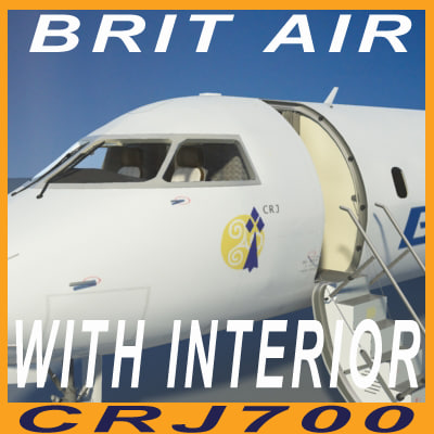 brit air interior 3d model