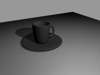 cup plate 3d max