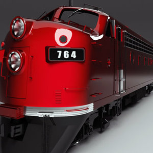 3ds locomotive emd f7