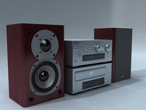 3d stereo speakers model