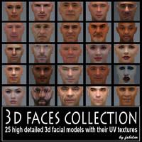 3D faces collection vol. 1