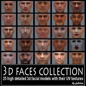 3ds max faces uv actors
